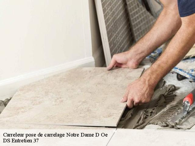 Carreleur pose de carrelage  37390
